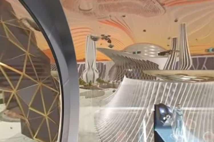 Vidéo colonie cité Mars réalité virtuelle