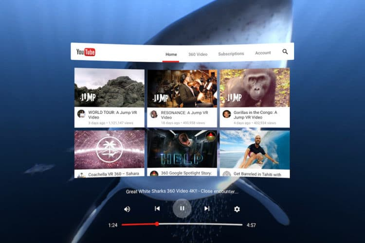 Youtube VR disponible sur Steam !