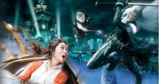 Final Fantasy railcoaster parc Japon