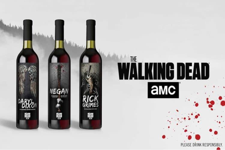 The Walking Dead bouteilles vin réalité augmentée