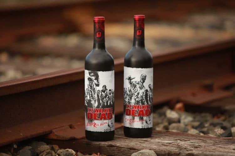 The Walking Dead bouteilles vin réalité augmentée application