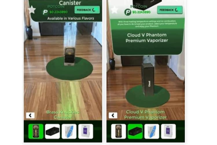 Tokedex cannabis réalité augmentée AR
