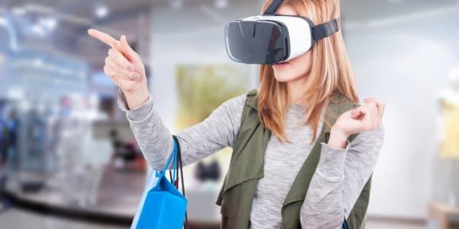 v-commerce shopping retail e-commerce vr ar réalité virtuelle augmentée