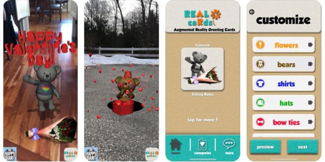 Carte virtuelle pour la Saint Valentin AR