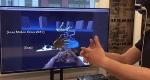 Perceptive IO tracking mouvements des mains réalité augmentée AR