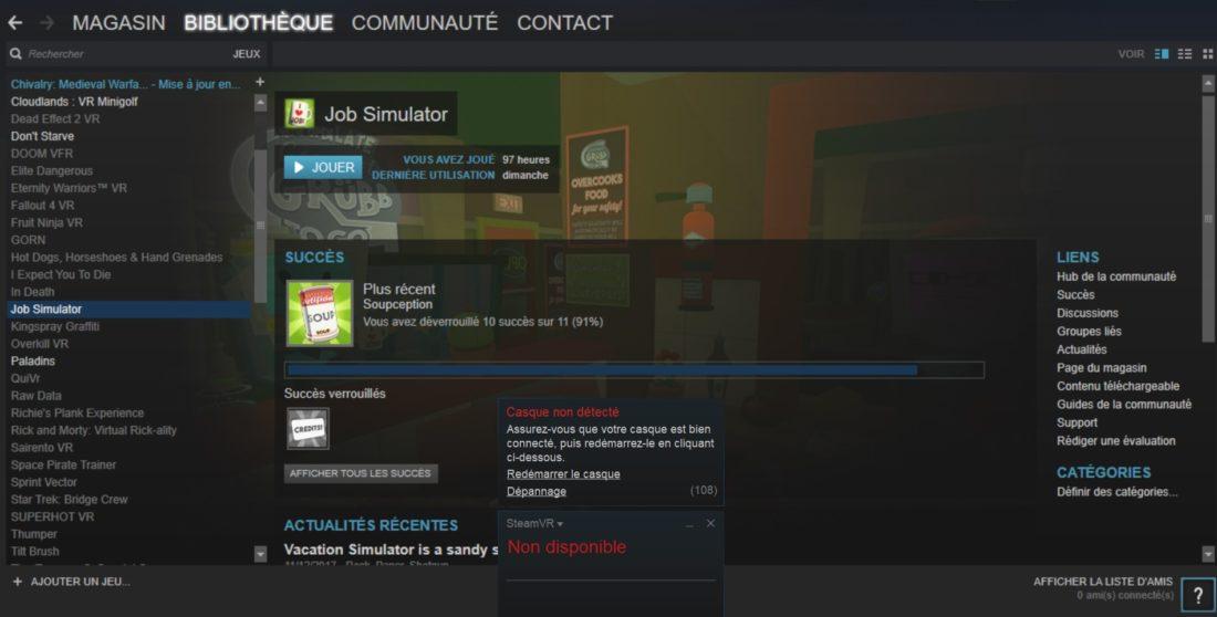 Steam Vr Comment Résoudre Les Bugs Erreurs Et Problèmes