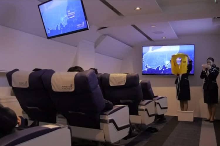 Vol virtuel Japon first Airlins VR