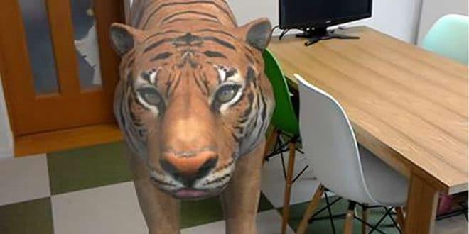 ZOOO Hololens zoo dans son salon AR réalité augmentée