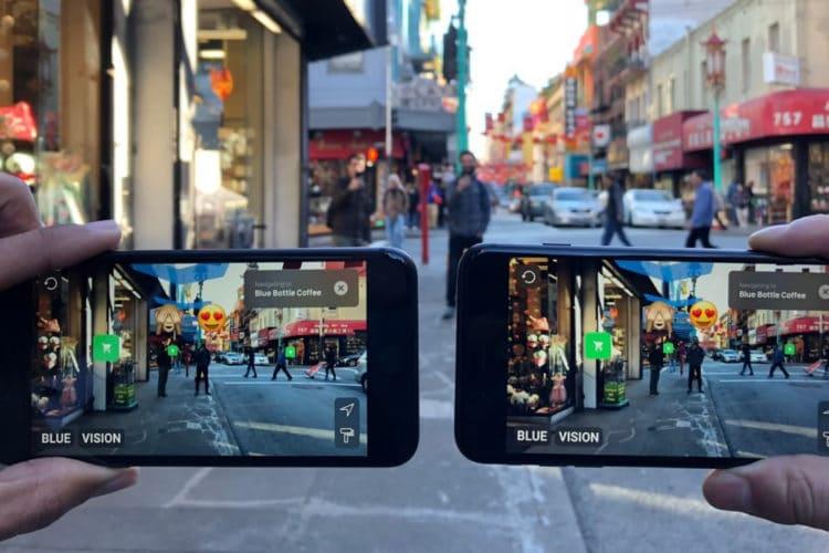 Blue Vision Cloud réalité augmentée