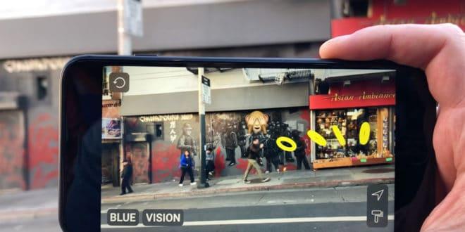 Blue Vision Cloud réalité augmentée Google