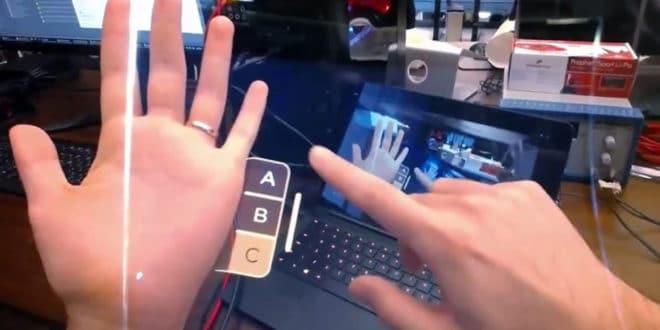 Leap Motion interaction réalité augmentée