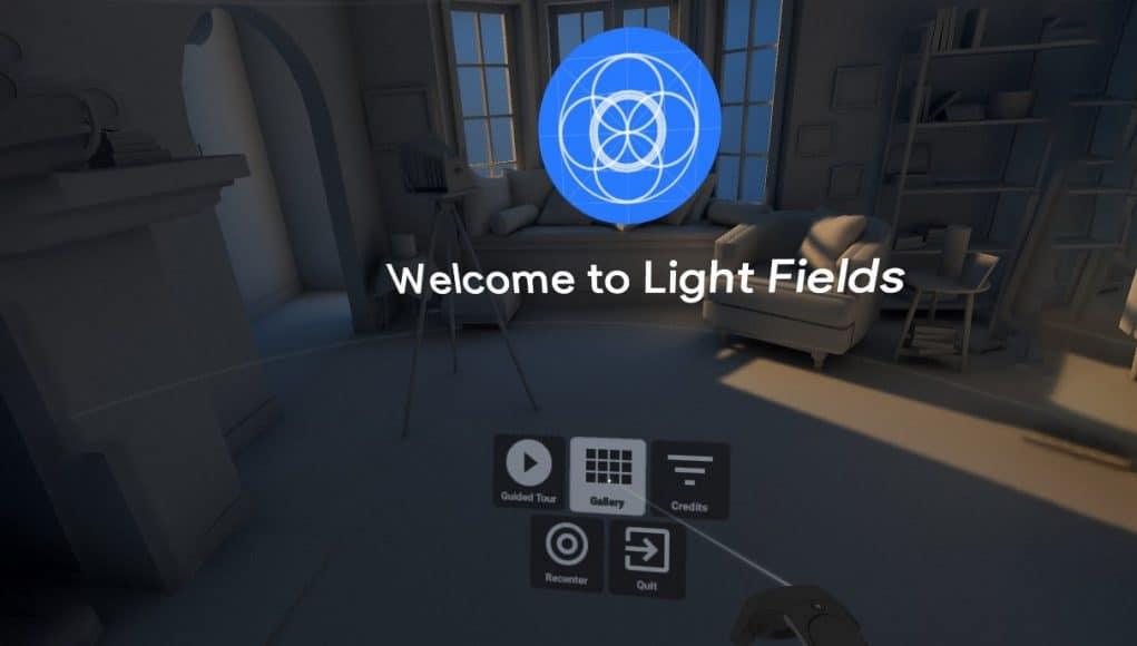 google welcome light fields