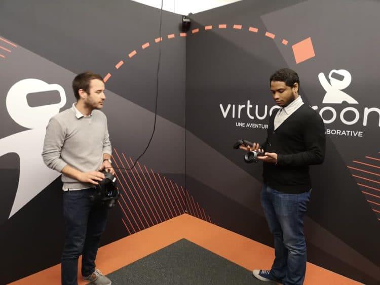 virtual room Box des joueurs