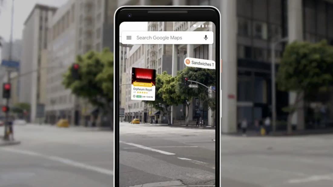 google maps ar 2 reconnaissance paysage