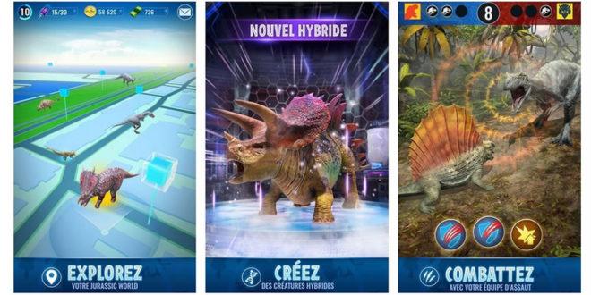 Jurassic World Alive jeu en réalité augmentée