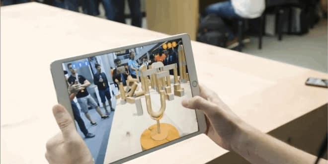 Apple SwiftShot jeu AR réalité augmentée ARKit WWDC 2018