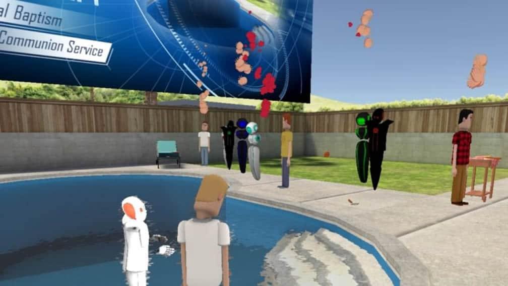 Baptême en réalité virtuelle pasteur eglise VR