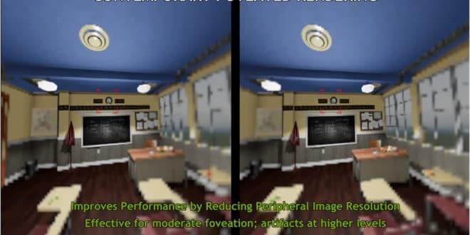 Technologie de rendu fovéal en réalité virtuelle