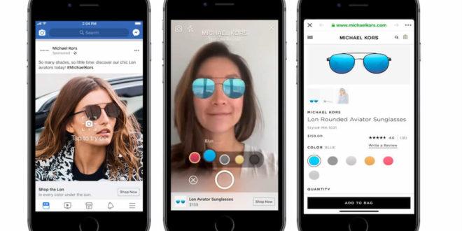 Facebook publicités en réalité augmentée marketing