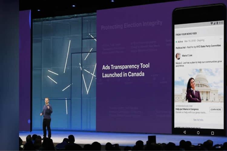 Facebook publicités en réalité augmentée dans le fil d'actualité