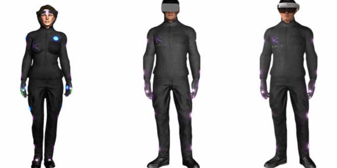 HoloSuit combinaison réalité virtuelle capteurs mouvement retour haptique