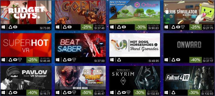 Meilleures ventes jeux réalité virtuelle 2018