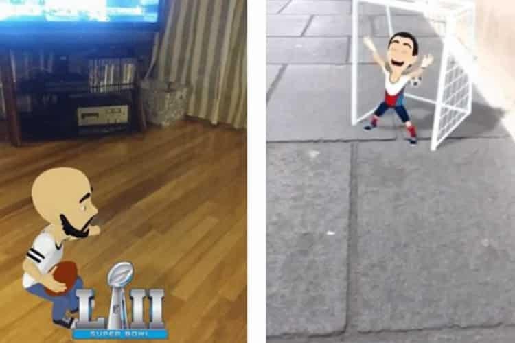 Tennis en réalité augmentée Snapchat