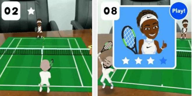 Tennis en réalité augmentée Snapchat Serena Williams