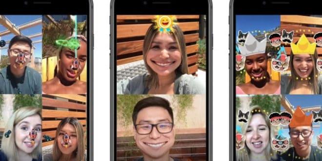 Messenger jeux en réalité augmentée appels vidéo