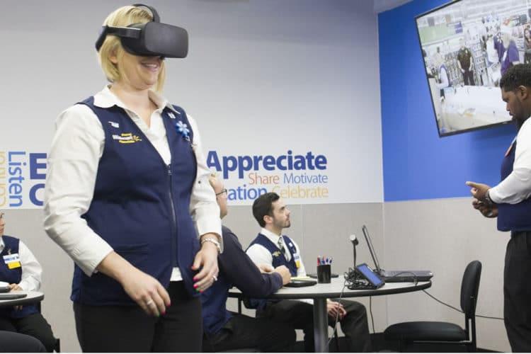 Wallmart brevet courses en réalité virtuelle