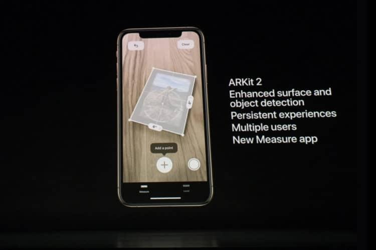 A12 Bionic réalité augmentée ARKit 2