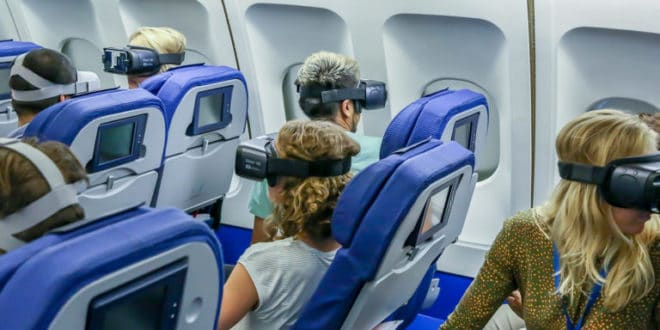 casques vr avion KLM