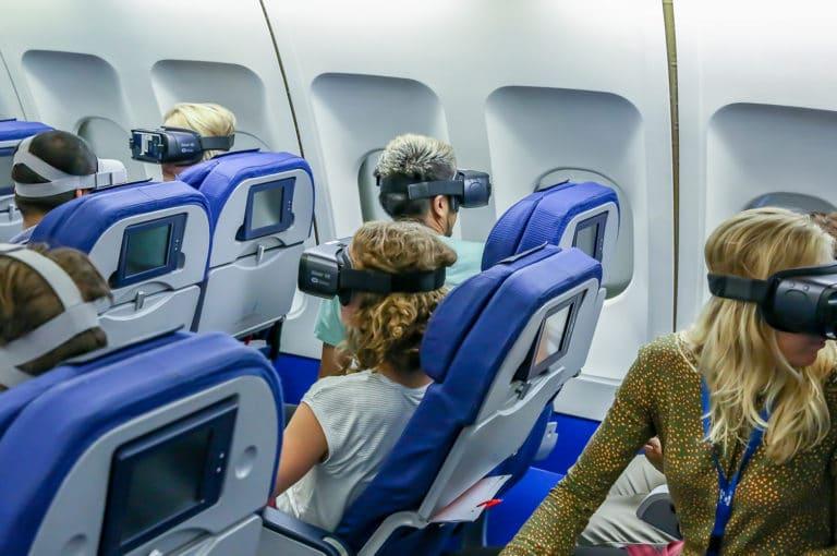 casques vr avion KLM