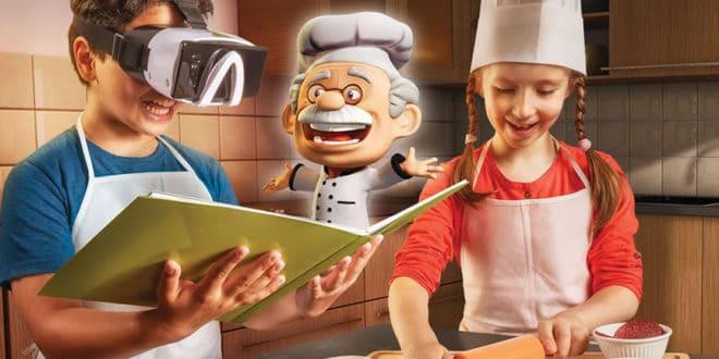 Apprendre à cuisiner en réalité mixte enfants