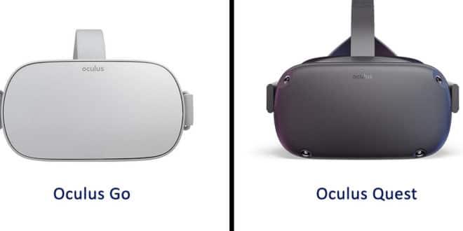 Différences entre l'Oculus Go et l'Oculus Quest