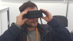 Prototype casque de réalité virtuelle compact