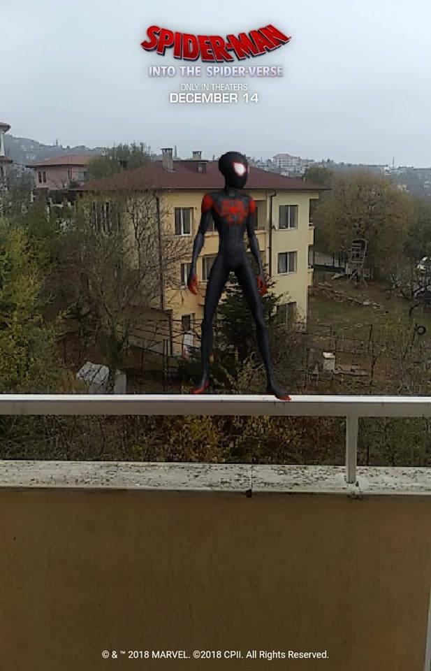 spider verse ar réalité augmentée