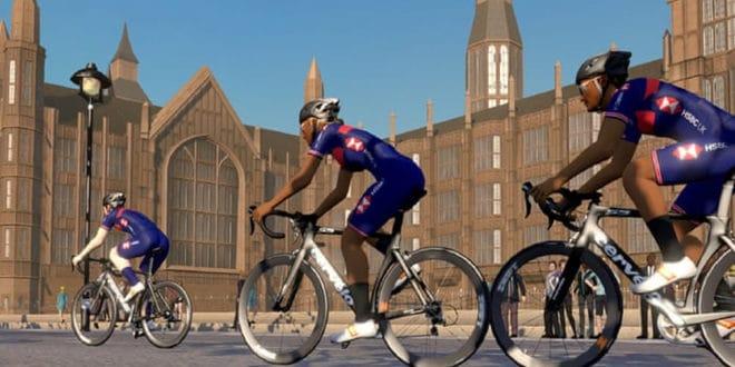 Vélo en réalité virtuelle compétition au Royaume-Uni