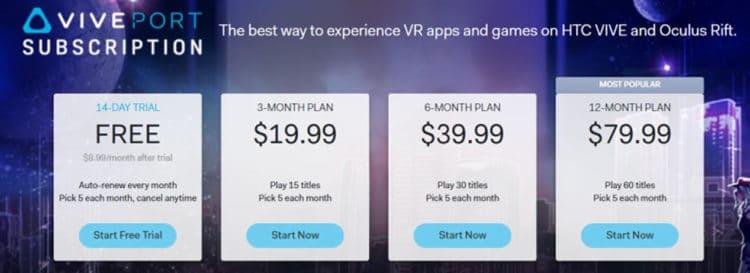 VivePort Inifinity offre abonnement jeux réalité virtuelle