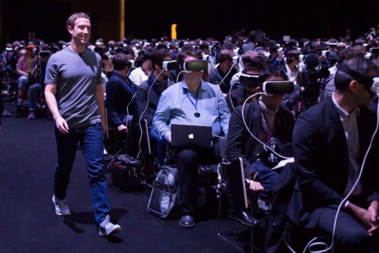 Facebook intérêts réalité virtuelle