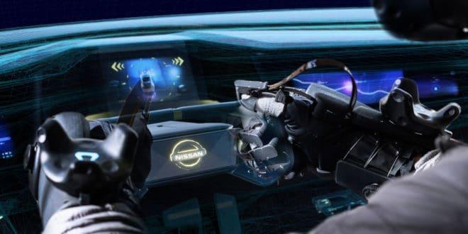 Nissan réalité virtuelle gants haptique