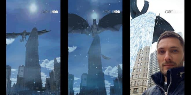 Game of Thrones réalité augmentée Snapchat