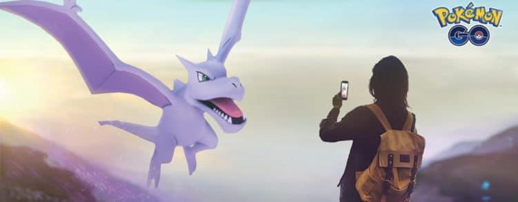 pokémon go shiny ptéra