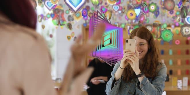 apple store art ar réalité augmentée