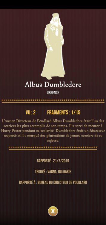 albus dumbledore harry potter wizards unite