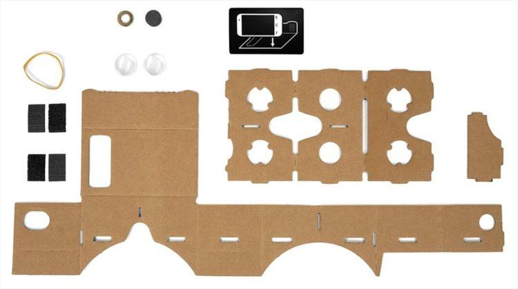 matériaux google cardboard