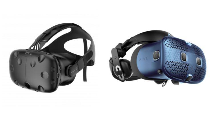 casques vr HTC Vive et HTC Vive Cosmos