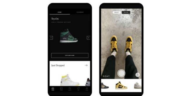 Sneakers réalité augmentée