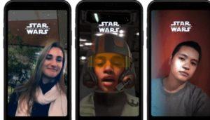 Star Wars réalité augmentee filtre Messenger