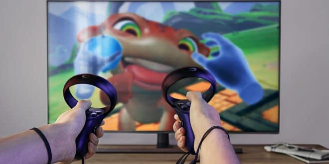 Vue Oculus Quest sur télévision téléviseur